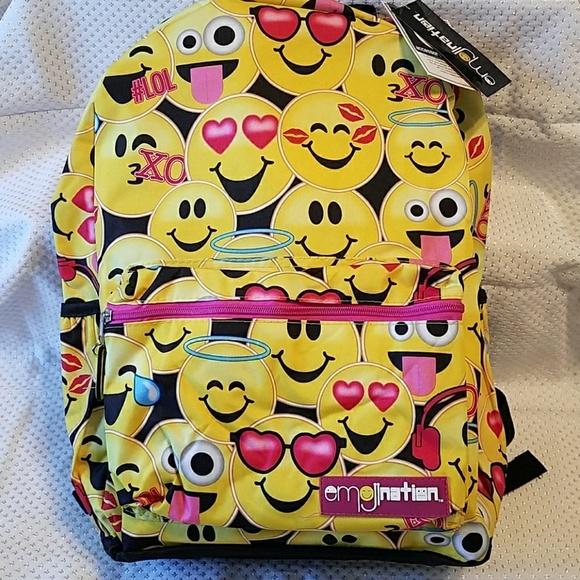 Emojination Other - Adorable NWT Emojination backpack w/3 pockets